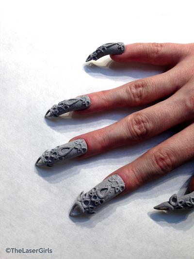uñas con manicura 3D