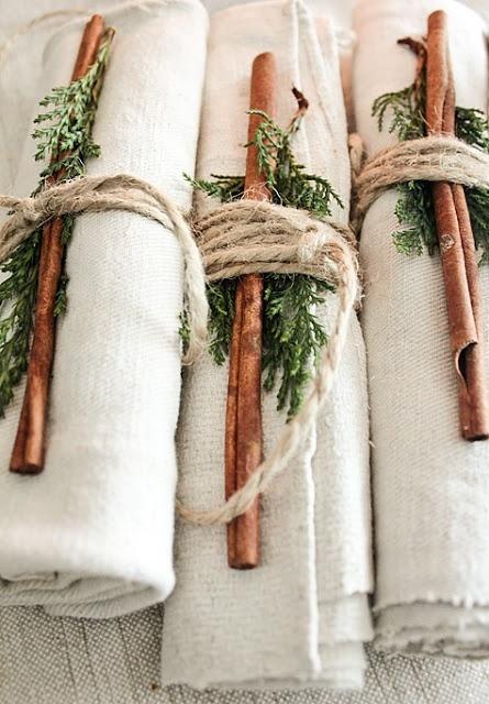 Porta servilletas rústicos para navidad