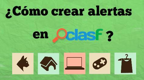 Cómo crearse alertas en Clasf